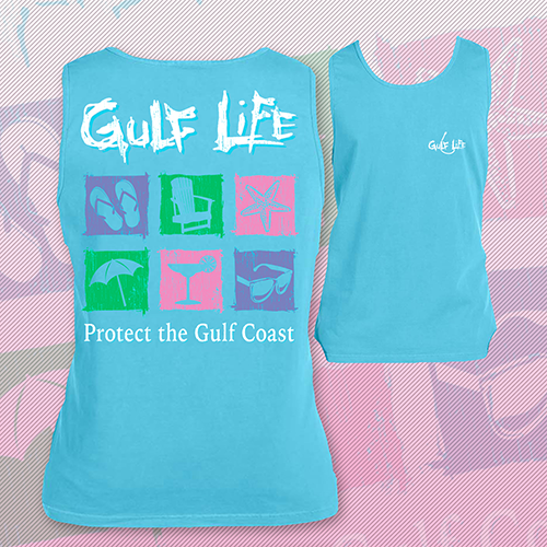 Gulf Life - Protect The Gulf Coast - Redfish Color