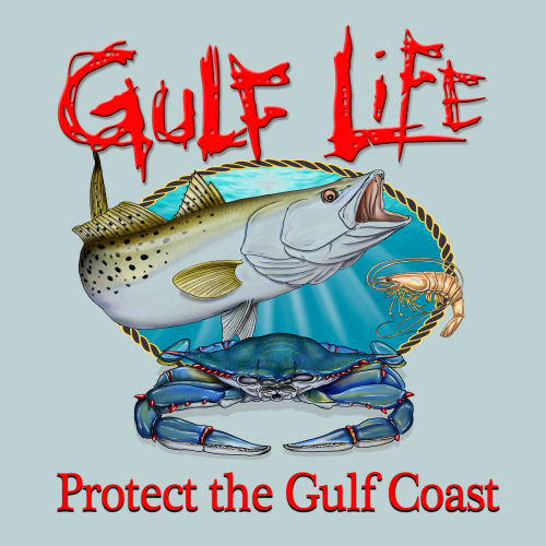 Gulf Life - Protect The Gulf Coast - Speckled Trout Color